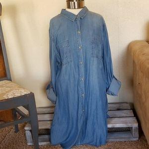 Chambray tunic/dress